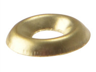 Forgefix FORSCW10BB - Screw Cup Washer Solid Brass Polished No.10 Blister 20