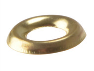 Forgefix FORSCW8BB - Screw Cup Washer Solid Brass Polished No.8 Blister 20