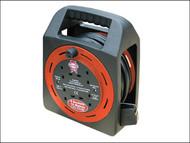 Faithfull Power Plus FPPCR15MER - Easy Reel Cable Reel 15 Metre 13 Amp With 4 Socket 240 Volt