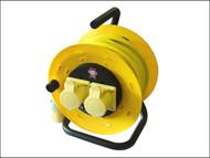 Faithfull Power Plus FPPCR50ML - Cable Reel 50 Metre 16amp 1.5mm Cable 110 Volt