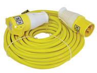 Faithfull Power Plus FPPTL14HDUTY - Trailing Lead 14 Metre 1750w 16 Amp 2.5mm Cable 110 Volt