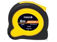 Fisco FSCTK8MEHV - Tuf-Lok Hi Vis Tape Measure 8m / 26ft (Width 25mm)
