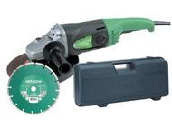 Hitachi HITG23SSCDL - G23SS 230mm Angle Grinder with Diamond Blade & Case 1900 Watt 110 Volt