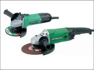 Hitachi HITTWINSSL - Angle Grinder Twin Pack 115mm + 230mm 110 Volt