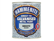 Hammerite HMMDGSI750 - Direct To Galvanised Metal Paint Silver 750ml