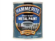 Hammerite HMMHFS750 - Direct to Rust Hammered Finish Metal Paint Silver 750ml
