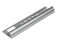 Homelux - Tile Trim Homelux Metal Round Edge Silver Effect 9mm x 2.4m (Box 10)