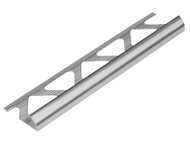 Homelux HOMHATRT6SI - Tile Trim Metal Round Edge Silver Effect 6mm x 2.4m (Box 10)