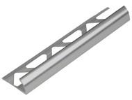 Homelux - Tile Trim Metal Round Edge Silver Effect 9mm x 2.4m (Box 10)
