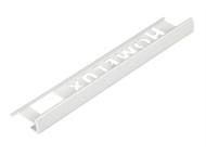 Homelux HOMHPJT200 - Tile Trim Homelux PVC Straight Edge White 8mm x 2.5m (Box 10)
