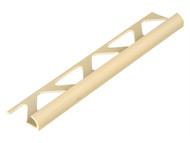Homelux HOMHTRT6SCR - Tile Trim PVC Round Edge Soft Cream 6mm x 2.44m (Box 10)