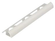 Homelux HOMHTRT9WH - Tile Trim PVC Round Edge White 9mm x 2.44m (Box 10)