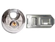Henry Squire HSQDCL1DCH1 - DCL1/DCH1C Disc Lock Plus Hasp & Staple