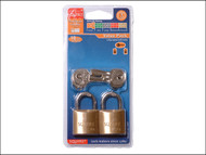 Henry Squire HSQLP8T - LP8T Leopard Brass Padlock 30mm (Card of 2)