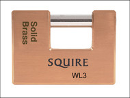 Henry Squire HSQWL3 - WL3 Solid Brass Warehouse Padlock 90mm