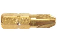 IRWIN IRW10504343 - Screwdriver Bits Pozi PZ3 25mm Titanium Pack of 10