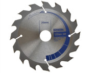 IRWIN IRW10506786 - Circular Saw Blade 125 x 16/20mm x 16T Professional Fast Rip