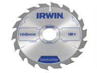 IRWIN IRW1897193 - Circular Saw Blade 165 x 30mm x 18T ATB
