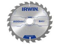IRWIN IRW1897201 - Circular Saw Blade 200 x 30mm x 24T ATB