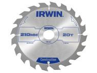 IRWIN IRW1897203 - Circular Saw Blade 210 x 30mm x 20T ATB