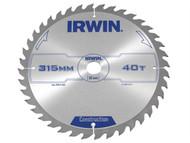 IRWIN IRW1897214 - Circular Saw Blade 315 x 30mm x 40T ATB