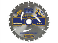 IRWIN IRW1897362 - Weldtec Circular Saw Blade 160 x 20mm x 24T ATB