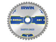 IRWIN IRW1897431 - Construction Circular Saw Blade 260 x 30mm x 48T ATB/Neg M