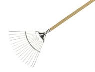 Kent & Stowe K/S70100061 - Long Handled Lawn and Leaf Rake Stainless Steel