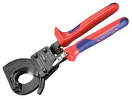 Knipex KPX9531250 - Cable Shears Ratchet Action Multi Component Grip 250mm