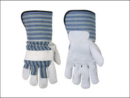 Kuny's KUN2048 - Leather Palm Safety Cuff Gloves Large (Size 10)