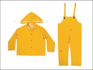 Kuny's KUNR101XXL - R101 3-Piece Yellow 0.35mm PVC Rain Suit - XXL