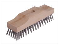 Lessmann LES148101 - Broom Head Raised Wooden Stock 6 Row 220mm x 60mm