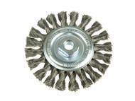 Lessmann LES471217 - Knot Wheel Brush 100mm x 12mm M14 x 0.50 Steel Wire