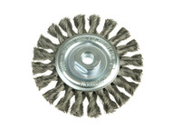 Lessmann LES472811 - Knot Wheel Brush 115mm x 14mm 22.2 Stainless Steel Wire
