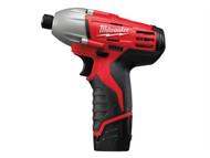 Milwaukee MILC12ID2 - C12 ID-202C Compact Impact Driver 12 Volt 2 x 2.0Ah Li-Ion