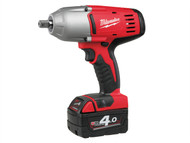 Milwaukee MILHD18HIWF4 - HD18 HIWF-402 Friction Ring 1/2in Impact Wrench 18 Volt 2 x 4.0Ah Li-Ion