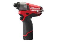 Milwaukee MILM12CID2F - M12 CID-202C Fuel Impact Driver 12 Volt 2 x 2.0Ah Li-Ion