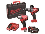 Milwaukee MILM18PP2B5F - M18PP2B-502C FUEL Twin Pack 18 Volt 2 x 5.0Ah Li-Ion