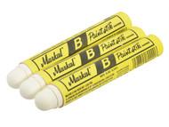 Markal MKL80295 - Paintstick Cold Surface Marker White Pack 3