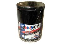 Markal MKL96577 - Dura-Ink 20 Retractable Black Tub 24 Piece