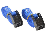 Master Lock MLK3110ECOL - Lashing Straps with Metal Buckle Coloured 2.5m 2 Piece