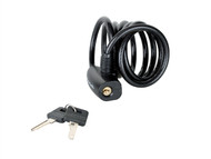 Master Lock MLK8126E - Black Self Coiling Keyed Cable 1.8m x 8mm