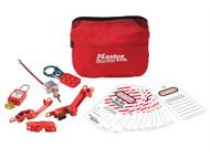 Master Lock MLKS1010ES31 - Electrical Lockout Pouch Kit 7-Piece