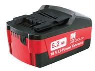 Metabo MPT625587000 - Slide Battery Pack 18 Volt 5.2Ah Li-Ion
