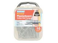 Plasplugs PLACF104 - CF 104 Standard Plasterboard Fixings Pack of 10