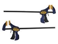 IRWIN Quick-Grip Q/G54122QC - Mini Bar Clamp 300mm (12 inch) Twin Pack