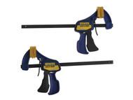 IRWIN Quick-Grip Q/G5462QC - Mini Bar Clamp 150mm (6 inch) Twin Pack