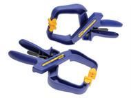 IRWIN Quick-Grip Q/G59400PR - 4in Handy Clamps Twin Pack