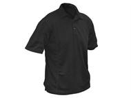 Roughneck Clothing RNKBKPOLOXXL - Black Quick Dry Polo Shirt - XXL
