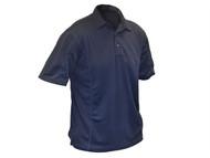 Roughneck Clothing RNKBLPOLOXL - Blue Quick Dry Polo Shirt - XL